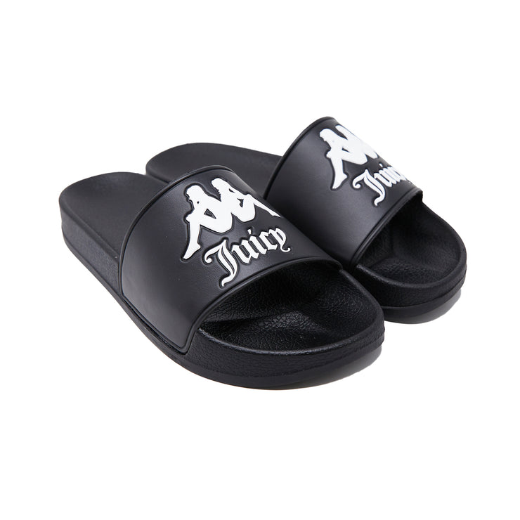 Authentic Juicy Couture Adam Slides - Black Smoke