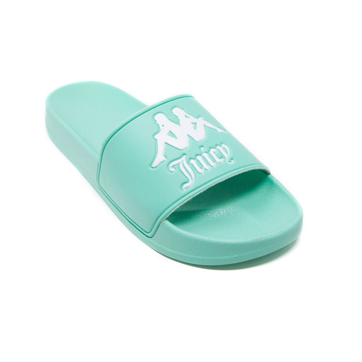 Authentic Juicy Couture Adam Slides - Mint White