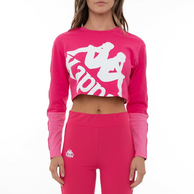 222 Banda Baloys Long Sleeves T-Shirt - Pink Raspberry