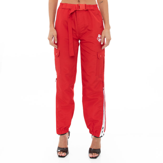 Authentic Sdamb Unisex Nylon Cargo Pants - Red
