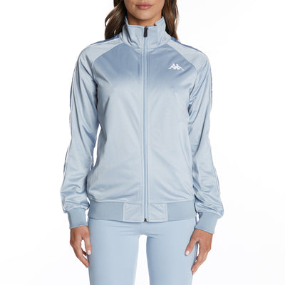 222 Banda Blaston Track Jacket - Baby Blue White
