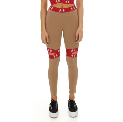 222 Banda Bowman Leggings Top - Brown Red