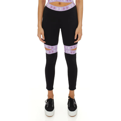 222 Banda Bowman Leggings Top - Black Violet