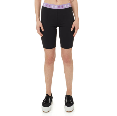 222 Banda Fuig Bike Shorts - Black Violet