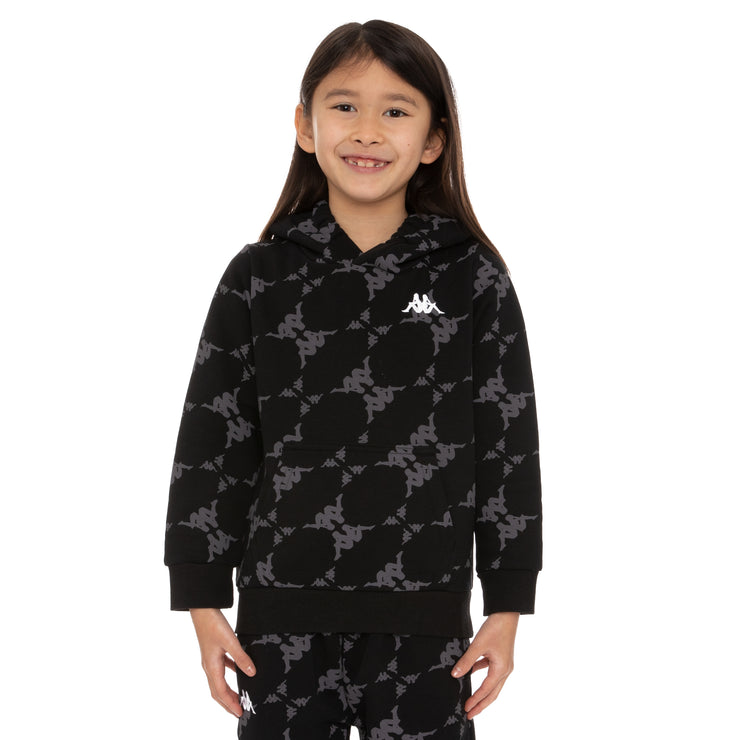 Kids Authentic Emaios Hoodie - Black Grey White