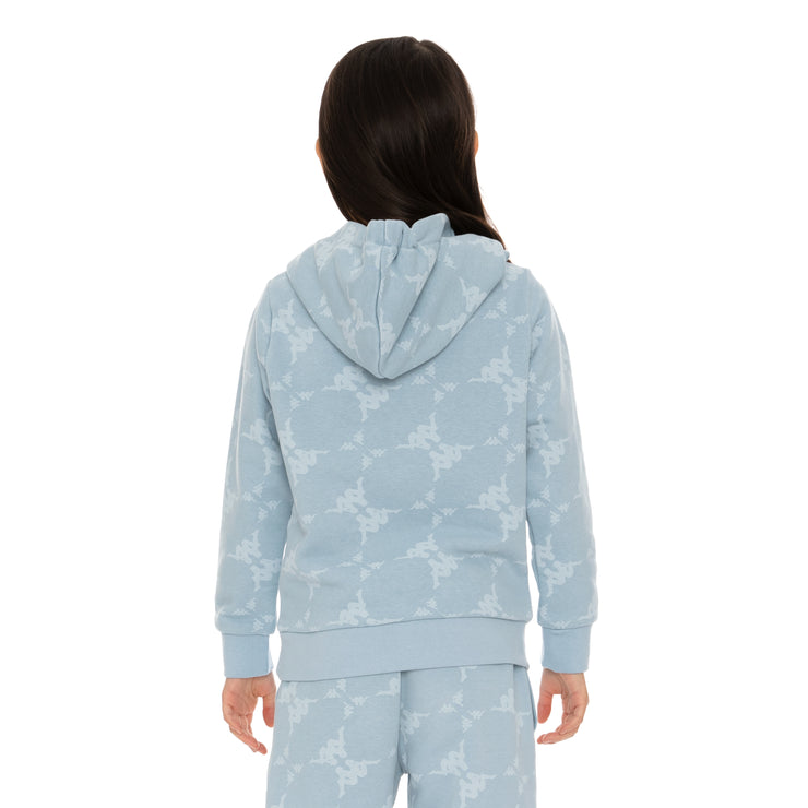 Kids Authentic Emaios Hoodie - Baby Blue White