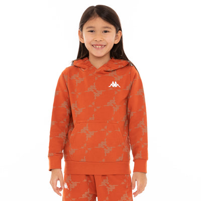 Kids Authentic Emaios Hoodie - Orange White