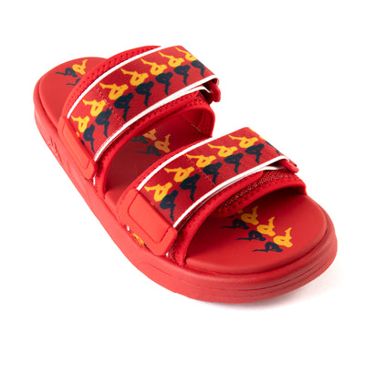 222 Banda Aster 3 Sandals - Red Yellow Blue