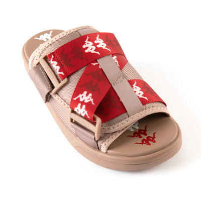 222 Banda Mitel 7 Sandals - Brown Red White