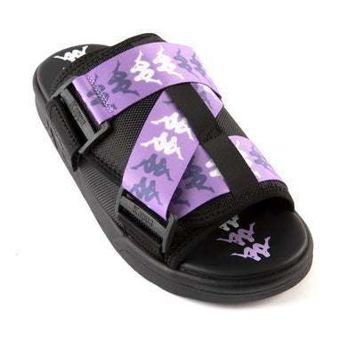 222 Banda Mitel 7 Sandals - Black Lilac White