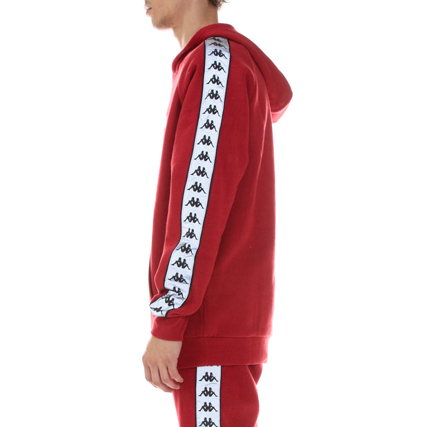 222 Banda Deniss Reflective Hoodie Red Grey Reflective
