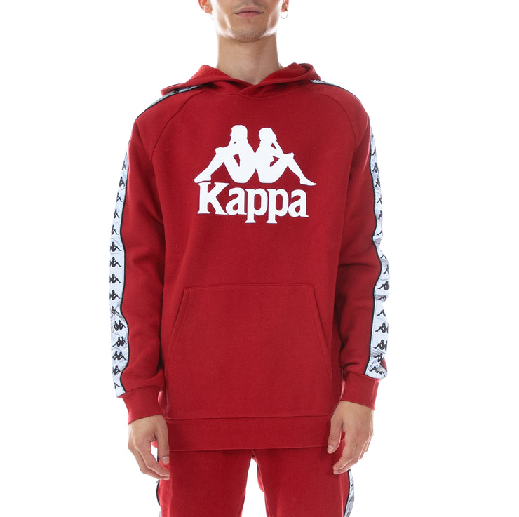 222 Banda Deniss Reflective Hoodie - Red Grey Reflective