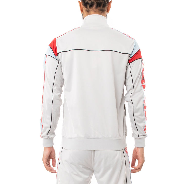 Kappa 222 Banda Difo Track Jacket - Grey Blue Red
