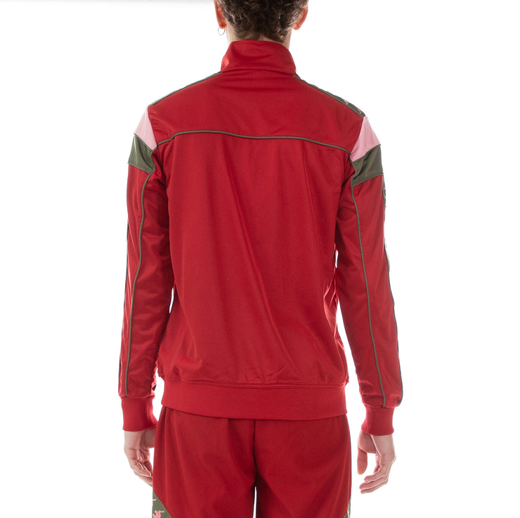 222 Banda Difo Track Jacket - Red Pepper Pink Green