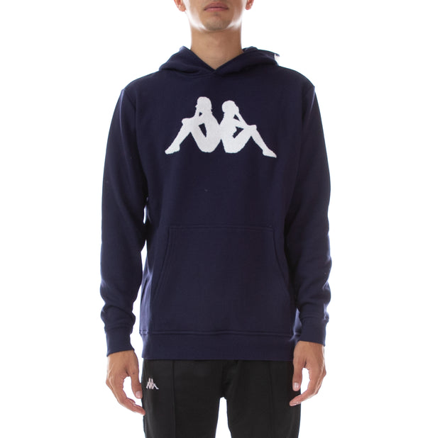 Authentic Dave Hoodie - Blue Marine White