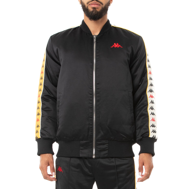 Kappa 222 Banda Bawer 2 Bomber Jacket - Black Gold