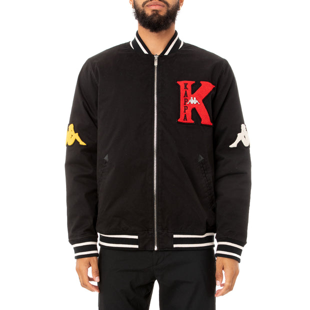 Kappa Authentic Klaus Varsity Jacket - Black