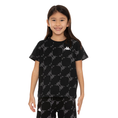 Kids Authentic Ebit T-Shirt - Black Grey White