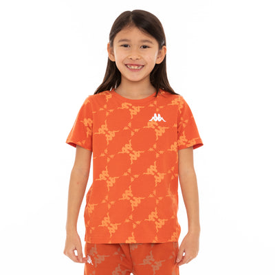Kids Authentic Ebit T-Shirt - Orange White
