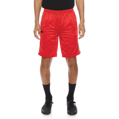 Logo Tape Aedi 2 Shorts - Red Black Grey