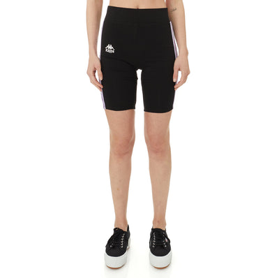 222 Banda Utuado Bike Shorts - Black Violet