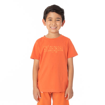 Kids Authentic Lambro T-Shirt - Orange White
