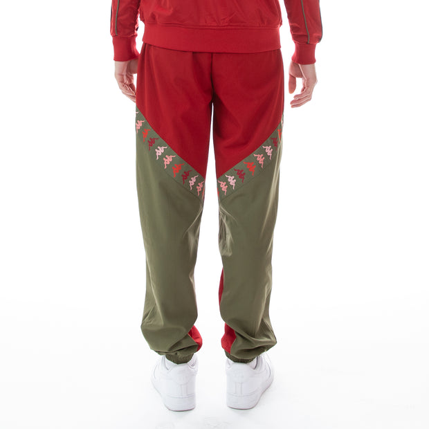222 Banda Derso Woven Pants - Red Pepper Green