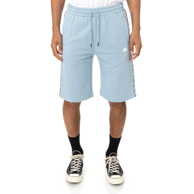 222 Banda Marvzin Shorts - Baby Blue White