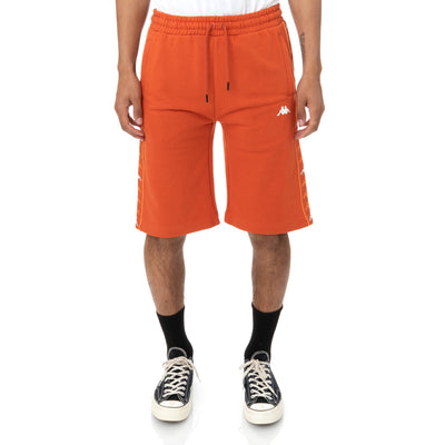 222 Banda Marvzin Shorts - Orange Dusty White
