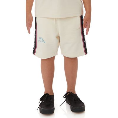 Kappa Kids Logo Tape Asved 2 Shorts - Cream