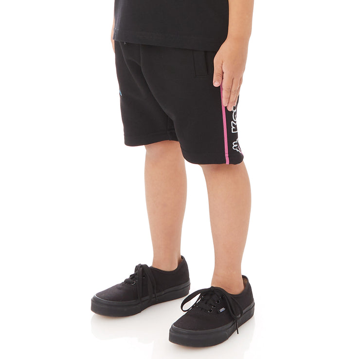 Kappa Kids Logo Tape Asved 2 Shorts - Black