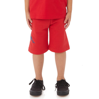 Kappa Kids Authentic Sangone Shorts - Red