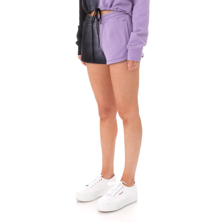 Kappa Authentic Makassar Shorts - Black Violet