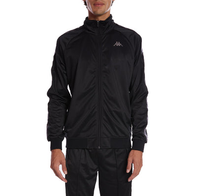 222 Banda Anniston Track Jacket - Black Grey Dk