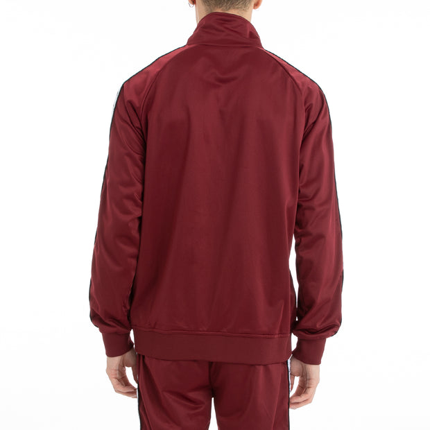 Kappa 222 Banda Anniston Track Jacket - Red Dahlia White