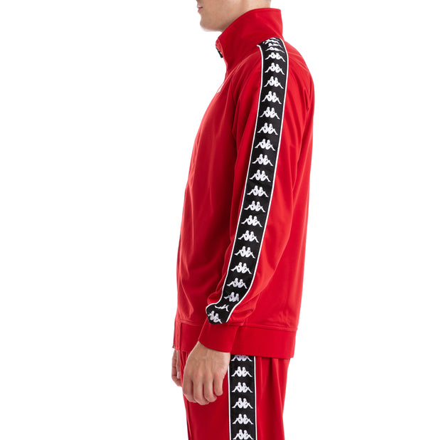 Kappa 222 Banda Anniston Red Black Track Jacket