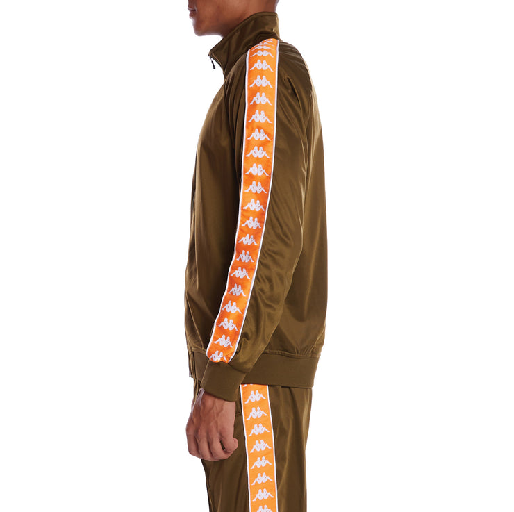 Kappa 222 Banda Anniston Track Jacket - Green Oliva Orange