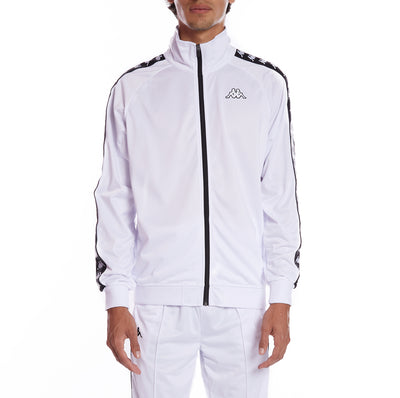 Kappa 222 Banda Anniston Track Jacket - White Black