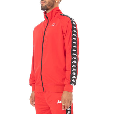 Kappa 222 Banda Anniston Track Jacket - Red Black