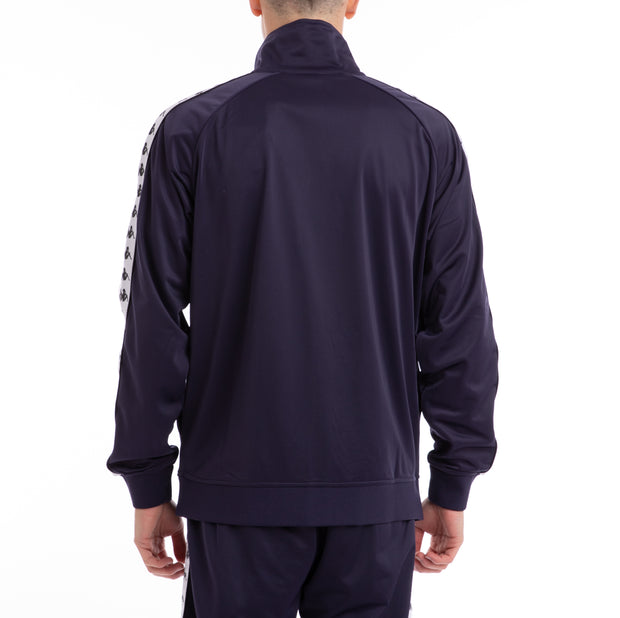 Kappa 222 Banda Anniston Blue Marine White Track Jacket