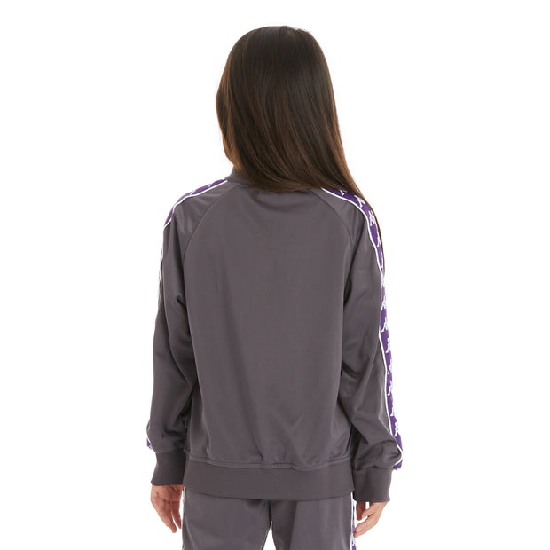 Kappa Kids 222 Banda Anniston Track Jacket - Dark Grey Violet Indigo