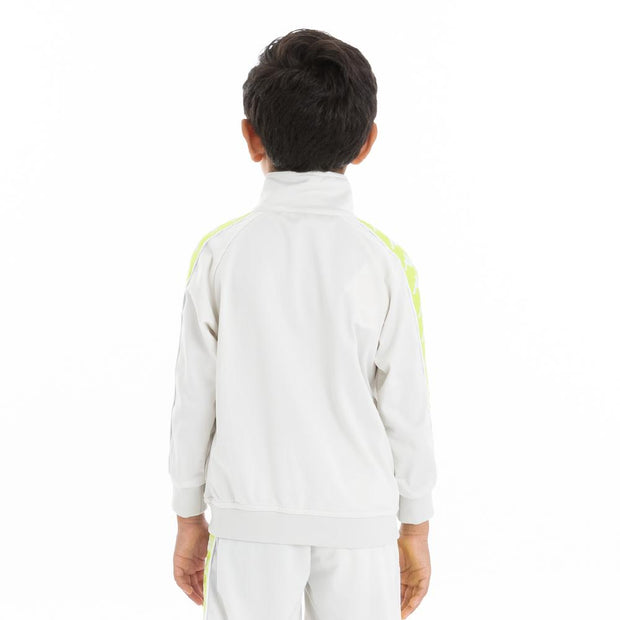 Kappa Kids 222 Banda Anniston Track Jacket - Grey Vapor Green