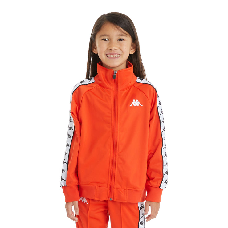 Kappa Kids 222 Banda Anniston Track Jacket - Orange Flame White