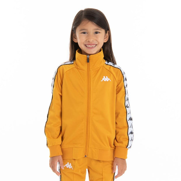 Kappa Kids 222 Banda Anniston Track Jacket - Yellow Ochre White