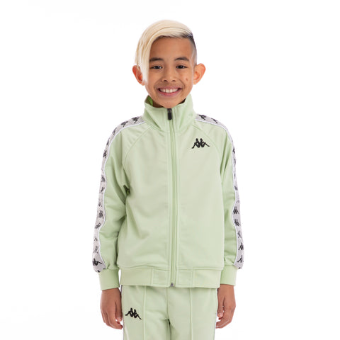 Kappa Kids 222 Banda Anniston Green Greysilver Black Track Jacket