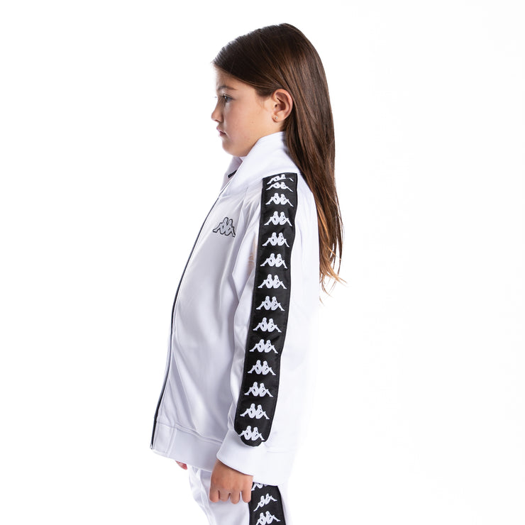 Kids 222 Banda Anniston Track Jacket - White Black