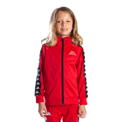 Kids 222 Banda Anniston Track Jacket - Red Black