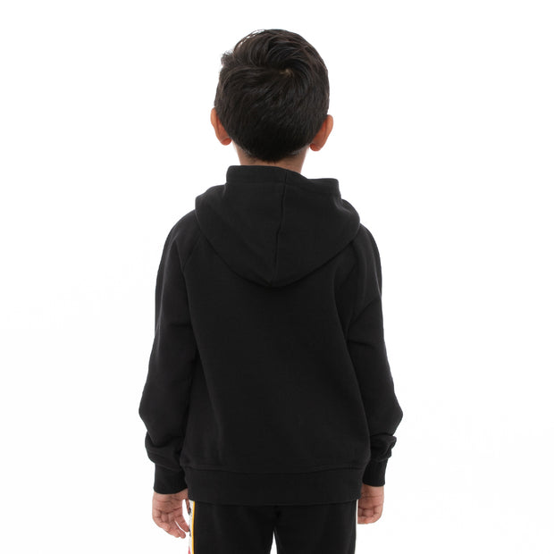 Kappa Kids Authentic Kawar Hoodie - Black Red Yellow Gold