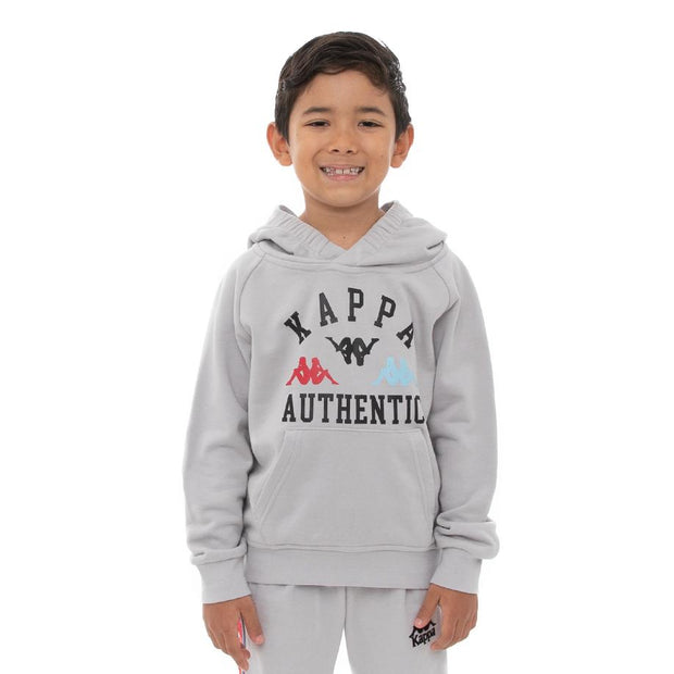 Kappa Kids Authentic Kawar Hoodie - Grey Blue Red