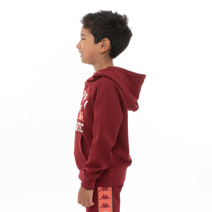 Kappa Kids Authentic Kawar Hoodie - Red Dark Orange Green